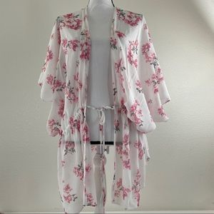 Charlotte Russe Floral Cardigan